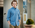 Sam Heughan at Barbour Photoshoot