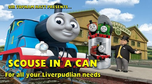 Thomas the Tank Engine wallpaper called Scouse in a Can advertisement