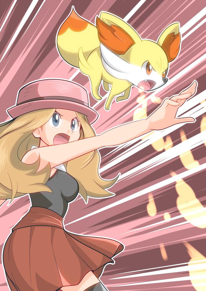 Serena and Fennekin Forever - Pokemon XY by