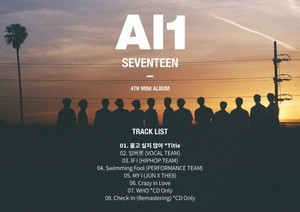 Seventeen reveal official track lista for 4th mini album