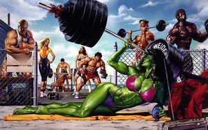She-Hulk - Bikini Weight Lifting
