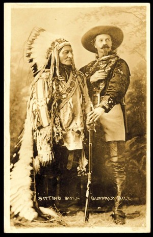 Sitting Bull and Buffalo Bill ~Souvenir Photograph (1895)
