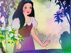Snow White with long hair