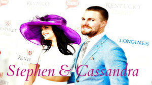 Stephen Amell & Cassandra Jean Wallpaper
