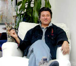 Steve Perry And His Cat