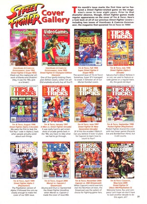 jalan, street Fighters Tips and Tricks Magazine Covers