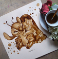 Stunning Coffee Stain Painting By Nuriamarq - coffee fan art