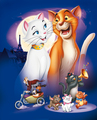 The Aristocats Textless Poster - the-aristocats photo