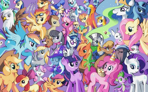 my little pónei, pônei - a amizade é mágica wallpaper titled The Cast of Friendship is Magic!