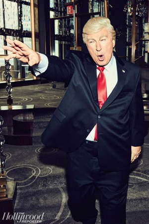 The Hollywood Reporter - SNL's Yuuuge Year - Alec Baldwin as Donald Trump
