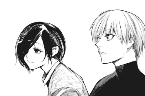 Ken Kaneki wallpaper entitled Touka + Kaneki