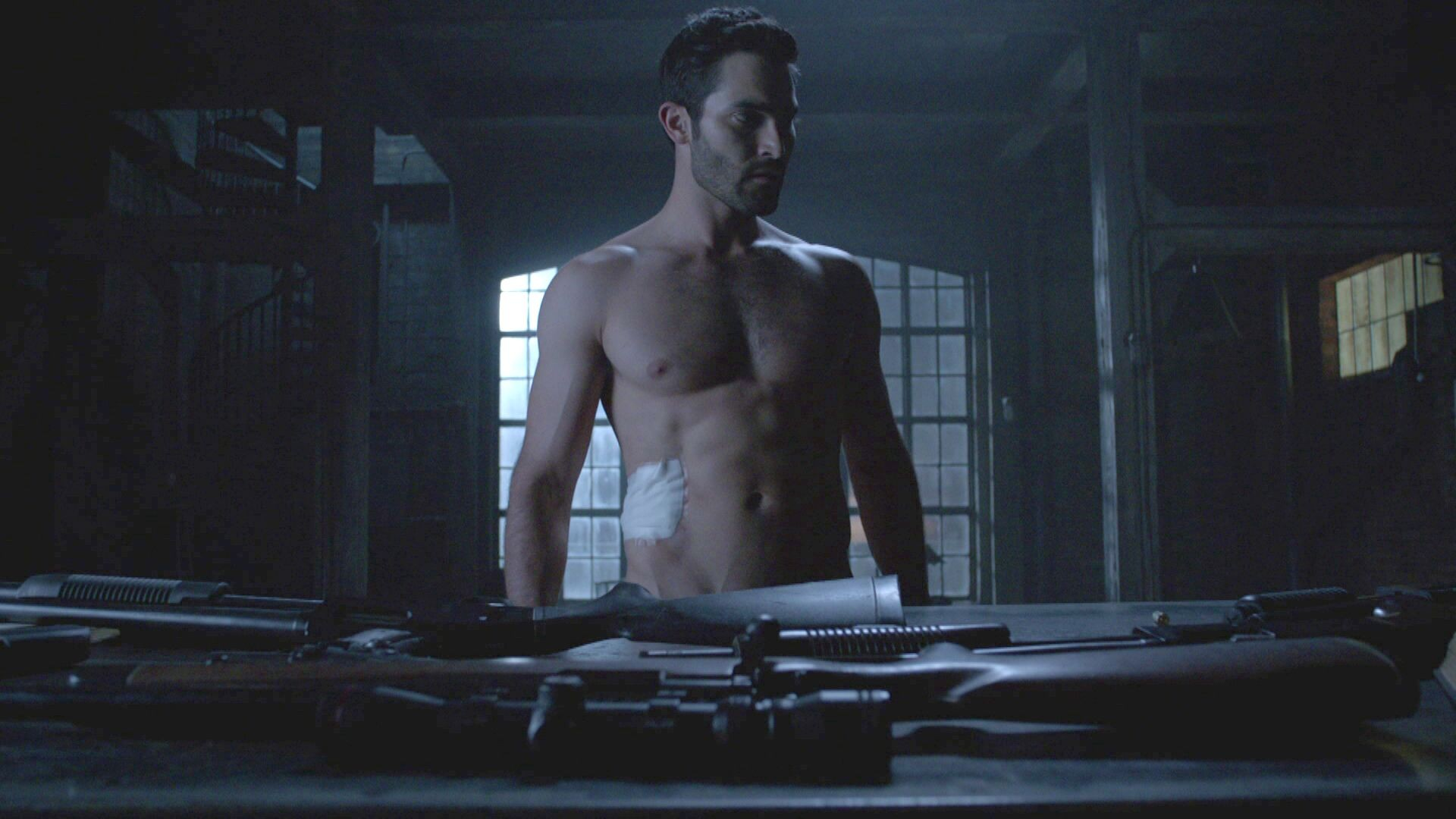 Tyler Hoechlin as Derek Hale in Teen 늑대 - Time of Death (4x08)