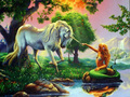 Unicorn and Mermaid - magical-creatures wallpaper