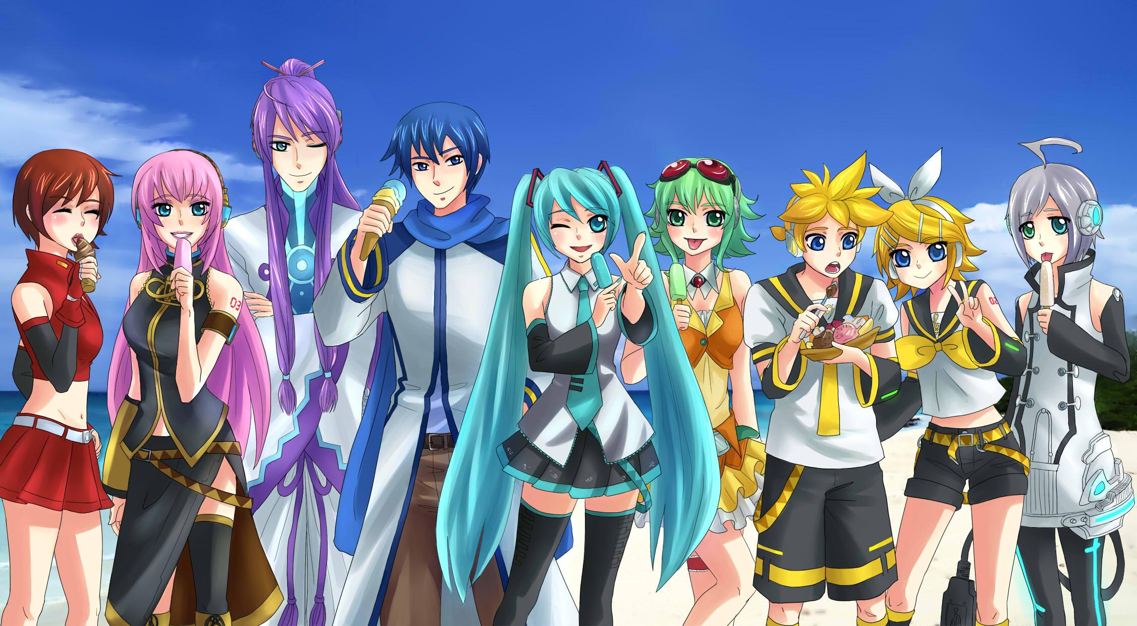 Vocaloid Chibi Group Wallpaper Vocaloid lovers! image...
