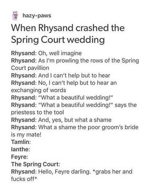 When Rhysand Crashed the Spring Court Wedding