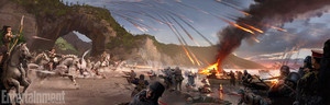 Wonder Woman (2017) Concept Art - Battle on the beach, pwani