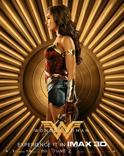Wonder Woman (2017) karatasi la kupamba ukuta called Wonder Woman (2017) IMAX Character Poster - Diana