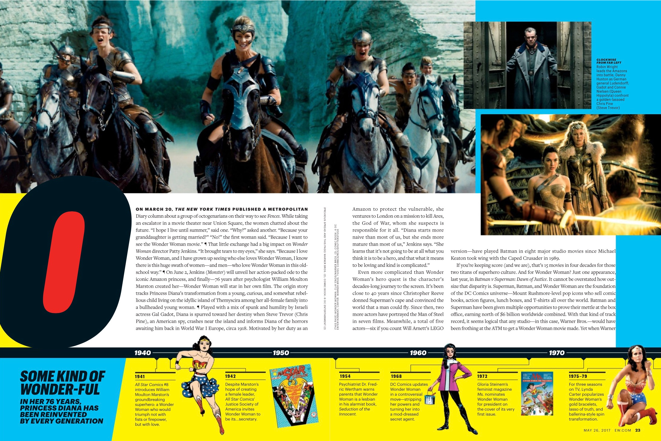 Wonder Woman in Entertainment Weekly - May 2017 [2]