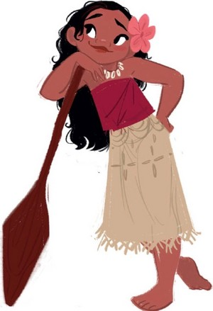 Young Moana concept art