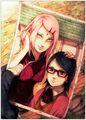 sakura sarada - sasuke-and-sakura photo