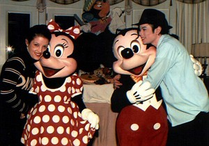 Hanging Out With Mickey And Minnie