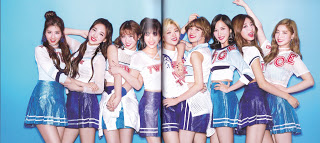 Twice (JYP Ent) achtergrond called [SCANS] TWICE Japan Debut Album