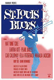 Movie Poster 1958 Film, At. Louis Blues