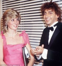 Barry Manilow Talking With Princess Diana