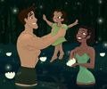 Offspring Of Tiana And Naveen - disney fan art