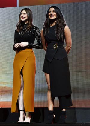 Alexandra and Priyanka at Cinema Con