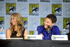 Amy and Stephen at the Gifted Comic Con 2017 Panel