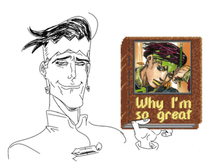 An accurate depiction of Rohan Kishibe