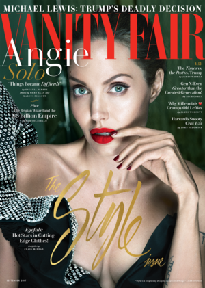 Angelina Jolie on the Cover of Vanity Fair ~ September 2017