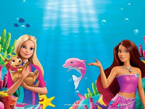Barbie-Filme Hintergrund called Barbie delphin Magic