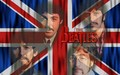 Beatles With UK Flag Wallpaper - the-beatles wallpaper