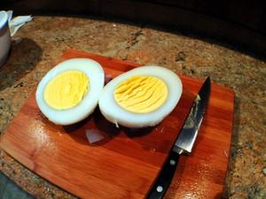 Boiled Ostrich Egg