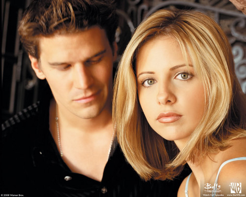 The 90s wallpaper entitled Buffy and Angel