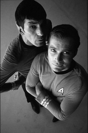 Captain Kirk and Spock