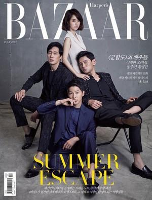 Cast of 'Battleship Island' grace the cover of 'Harper's Bazaar'