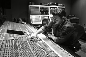 Chris in the studio.