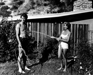 Clint and Maggie Eastwood at home 60s