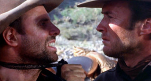 Clint with Bruce Dern in Hang 'Em High (1968)