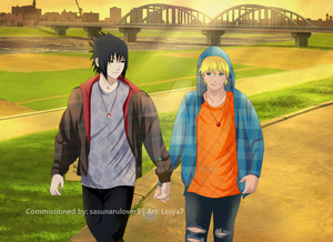 Commission Sasuke x naruto Hold hands
