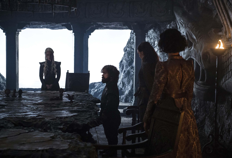 Daenerys Targaryen, Tyrion Lannister, Yara Greyjoy and Ellaria Sand in 'Stormborn'