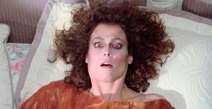 Dana awakes with red eyes