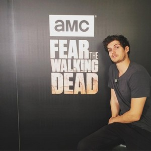 Daniel promoting FTWD in Madrid, Spain.