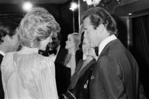 Diana Talking With Sir Roger Moore