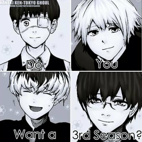 tokyo ghoul fondo de pantalla titled Do tu want a 3rd season ?