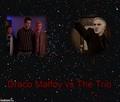 Draco Malfoy vs The Trio - buffy-the-vampire-slayer fan art