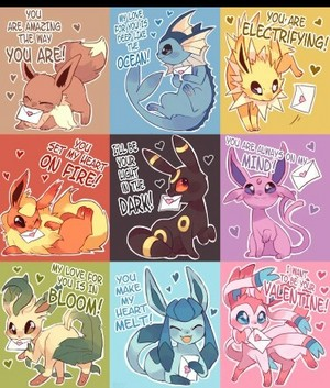 Eeveelutions Pick Up Lines